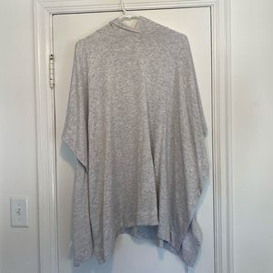 Grey super soft poncho